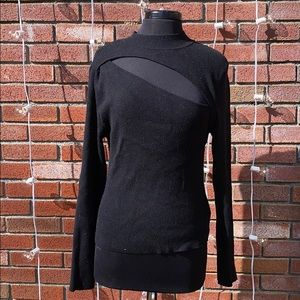 Forever 21 Open Cut Out Style Black Sweater Trendy